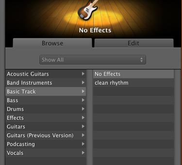 apple garageband edit tab